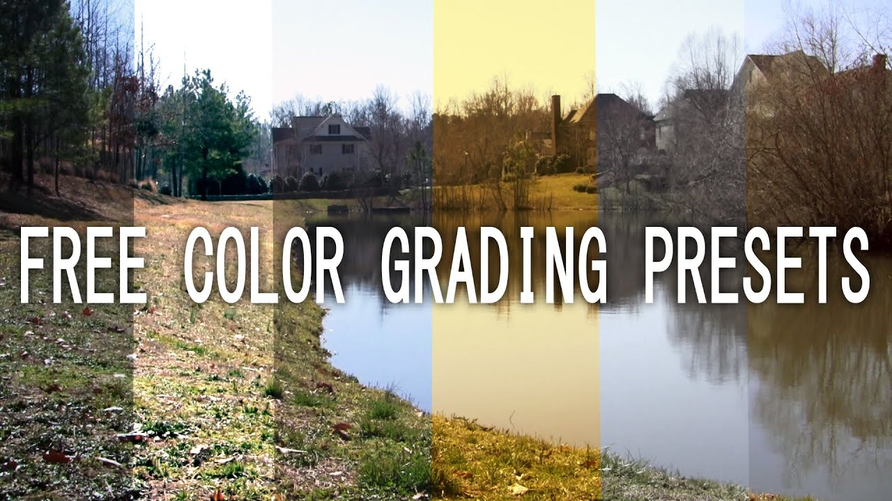 Free Color Grading Presets  After Effects  YouTube