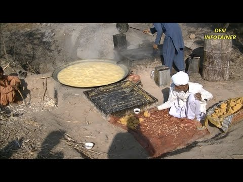Afghan Chit Chat Site preparation of gur and chit-chat with farmers in punjab pakistan