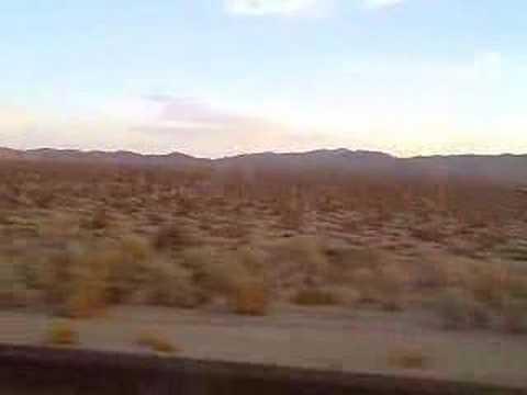 Arizona as seen from greyhound bus