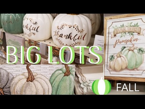 Shop With Me Big Lots Fall Decor 2018 Youtube