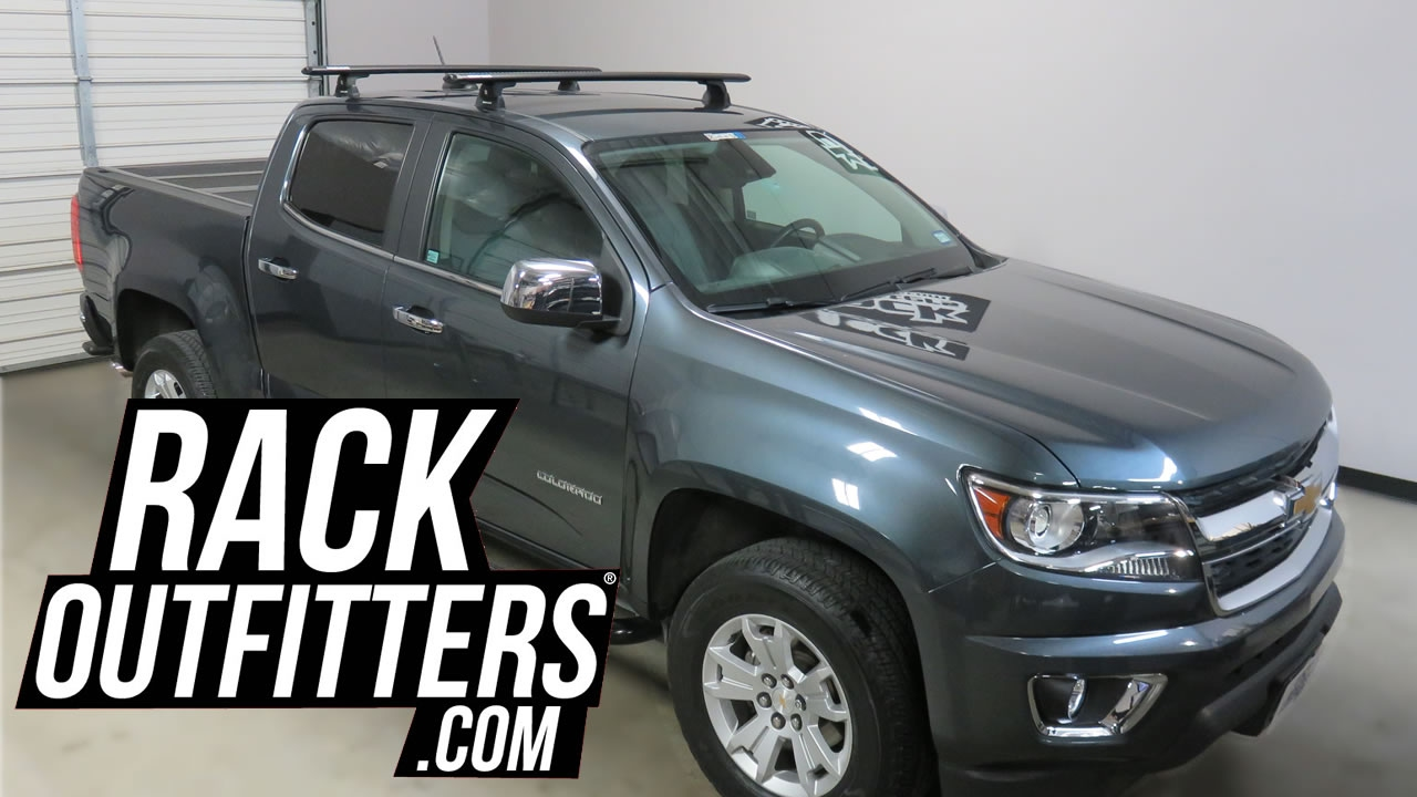 Prius Roof Rack >> Chevrolet Colorado with Rhino-Rack Ditch Bracket Quick Mount Vortex Roof Rack - YouTube