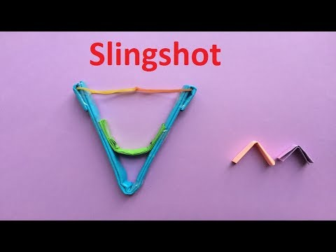 How to make a paper slingshot | How To Make a Simple Strong Paper Slingshot