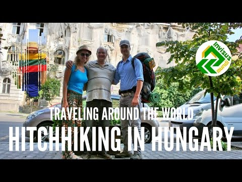 Traveling around the world. Hitchhiking in Hungary