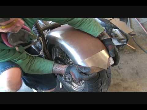 Custom Harley Davidson Chopper Making A Custom Fender Part 1 Youtube