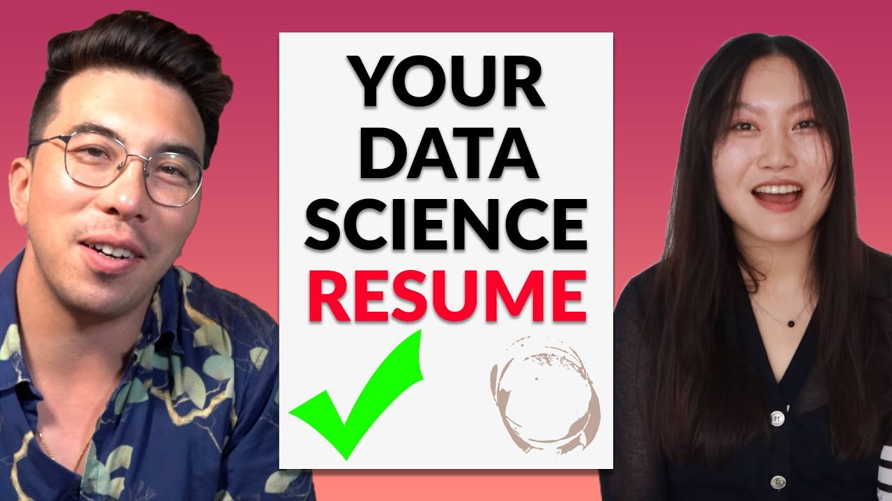 Data Science Resume Round-Up With @Tina Huang - Episode 1