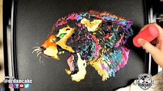 Rainbow Leopard Pancake Art