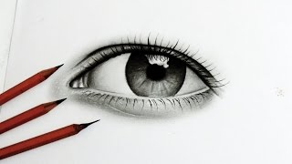 Tutorial - Como Desenhar um Olho Realista ( How To Draw Realistic Eye)