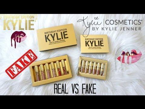 REAL vs FAKE $6: Kylie Cosmetics Birthday Edition Mini Matte Liquid Lipsticks