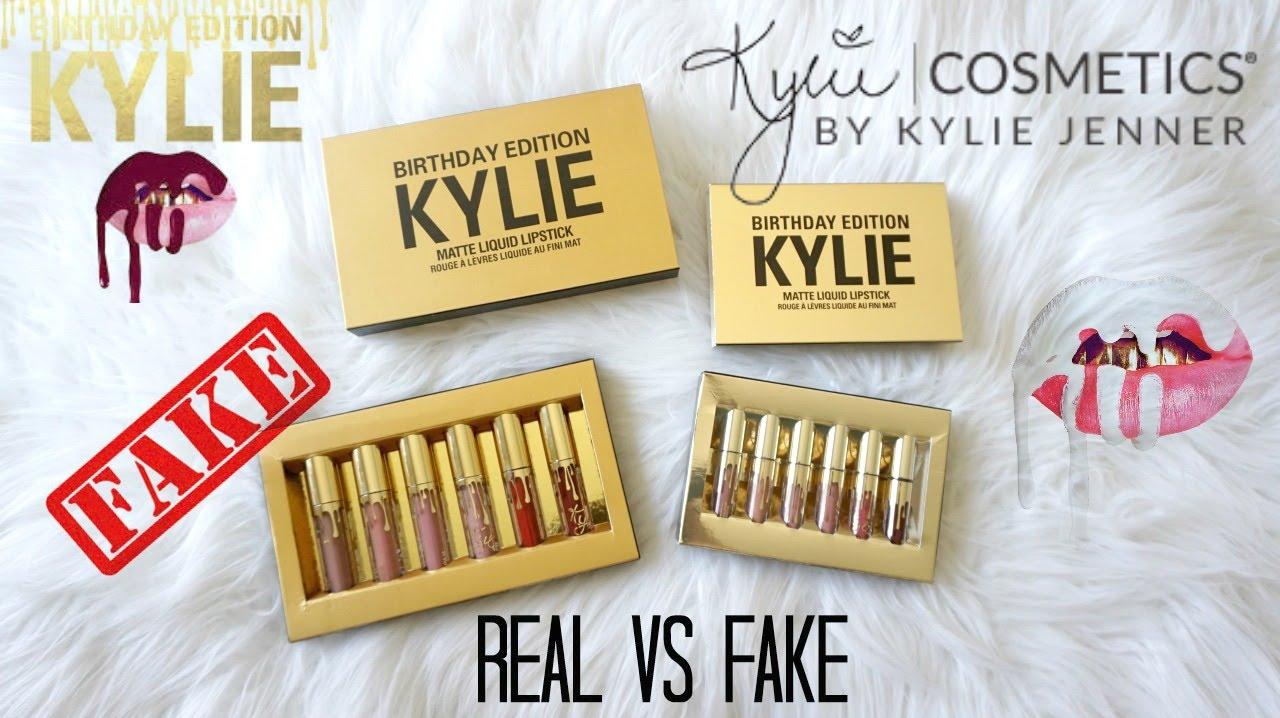 Real Vs Fake 6 Kylie Cosmetics Birthday Edition Mini Matte Liquid
