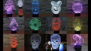 LED-лампа 3D ночник обзор