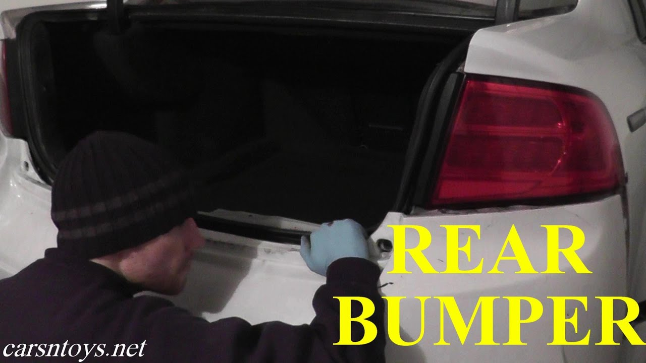 Acura TL Rear Bumper Replacement With Basic Hand Tools HD YouTube - Acura tl rear bumper