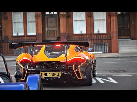 McLaren P1 LM Start up, combos and chase in London!