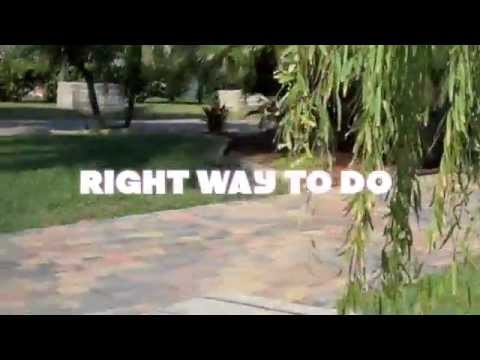 how to lay thin pavers over concrete driveway in tampa bay. - youtube