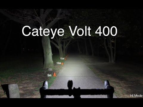 cateye volt 400  Cateye Volt 400 (400 Lumens) unboxing and review 2017 - YouTube