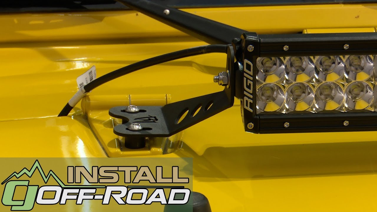Jeep Wrangler Jk Rigid Industries Hood Mount Kit For 20 Led Light