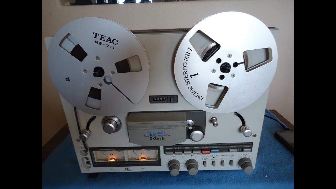 Teac X-3 MKII Stereo Reel To Reel - YouTube
