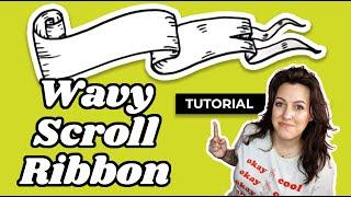 Banner Drawing Tutorial - Wavy Scroll Ribbon