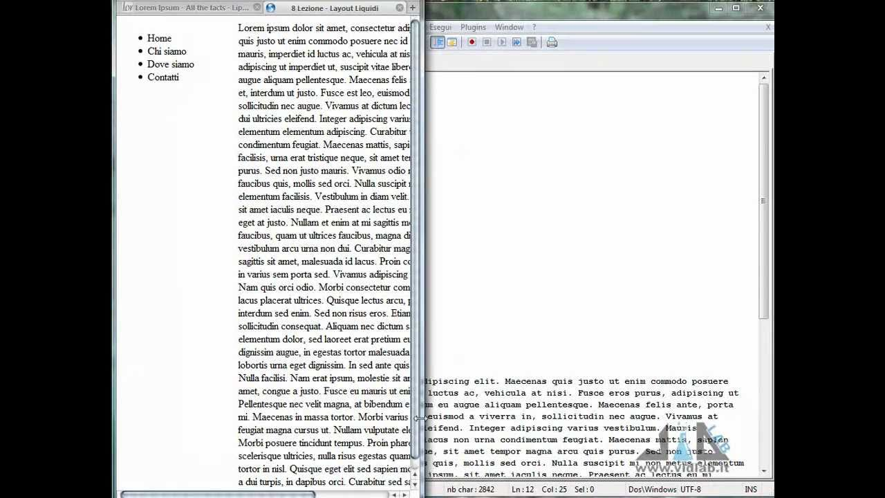 Videocorso Html Lezione 8 Layout Liquidi Notepad