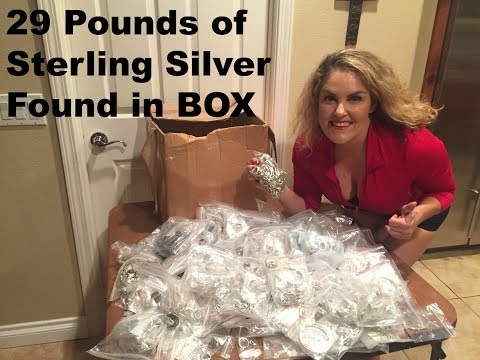 29 LBS  Sterling Silver Discovered Indian Store Deal  Storage wars Rene Casey Nezhoda