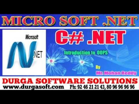 .NET || C# .NET || Introduction to  OOPS by Mohan Reddy