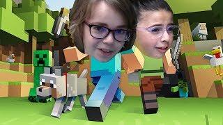 Zeynep Minecraft Öğreniyor! #3 - Zeynep Bu işin Ustası Oldu, Ata Berk ile Yarışıyor!