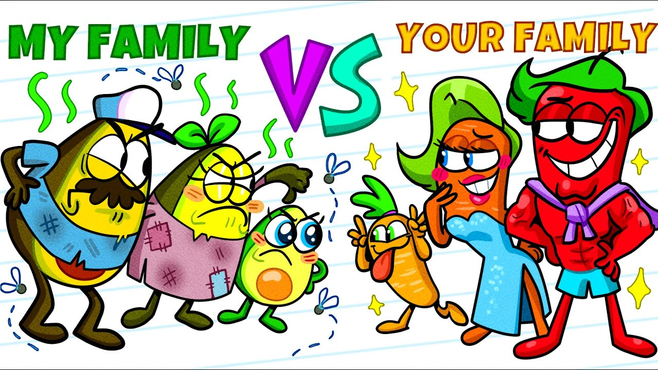 Download Rich Family vs Poor Family    Funny and Crazy Situations by Avocado Couple