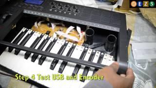 Repairing Axiom 25 Keyboard  USB and Rotary Knobs at Rhythm and Rhyme Studio.