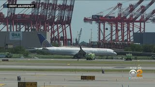 Plane Tire Blows Out, Skids Off Newark Airport Runway