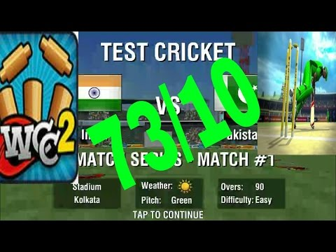 World Cricket Championship 2 Gameplay (73 all out) 3 Test match Between India & Pakistan 2nd innings
