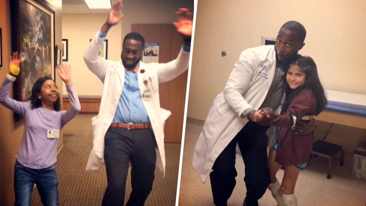 Dancing Doctor Busts A Move To Cheer Up Sick Kids Youtube