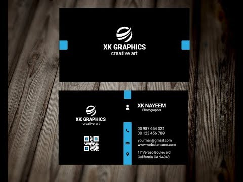Business Card Design in Photoshop in Hindi   Professional