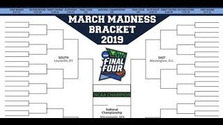 2019 NCAA March Madness Bracket Predictions!!