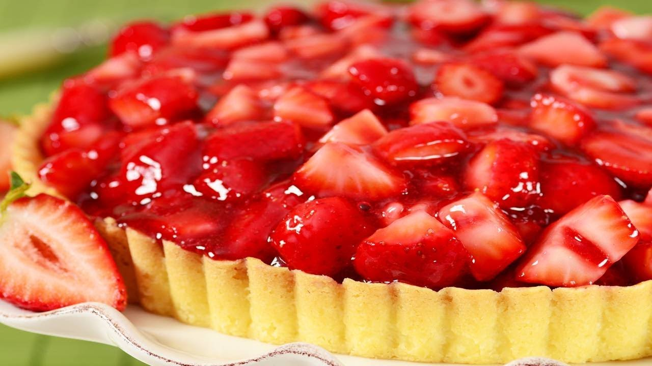 Strawberry Pie Recipe Video Joyofbaking Com Video Recipe