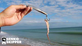 Easiest Lure for Beach Fishing (KastMaster + Super Salty Squid)