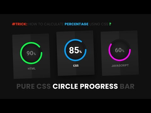 Pure CSS Circular Progress Bar | Html CSS & SVG