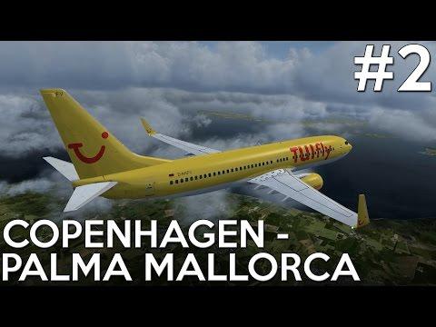 [P3D] Copenhagen to Mallorca - Part 2 - PMDG 737-800NGX WL [EKCH-LEPA]