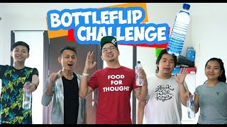 FLIP BOTTLE CHALLENGE with LDP, Kevin Anggara n Koharo