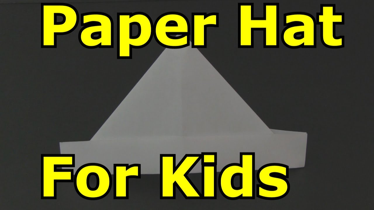 How to Make a Paper Hat, Origami - YouTube - photo#17