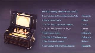 """ウェイル&ハールブルク マンダリン・ボックス """"コルヌヴィルの鐘""""他 全8曲 オルゴールの小さな博物館"""