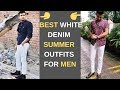 White Denim Outfits for INDIAN Men| Men's Summer Outfit Inspiration 2019| Men's Fashion