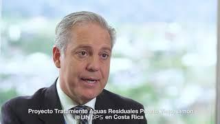 Planta de tratamiento Puerto Viejo - Directores de UNOPS y AYA