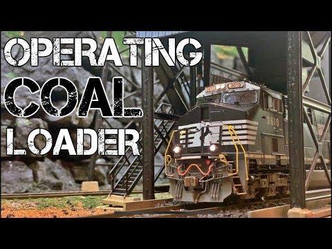 Operating Coal Loader – LIVE Coal Loads in HO Scale