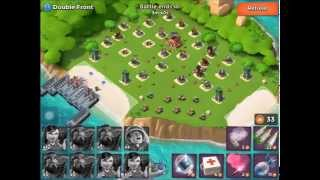 Boom Beach: Double Front Level 57 No Loss with Heavies / Zookas