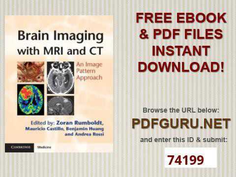 Brain Imaging with MRI and CT An Image Pattern Approach Cambridge Medicine Hardcover