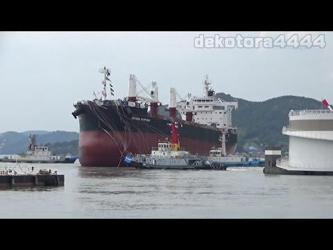 Cargo「FORTUNE SYMPHONY」 TSUNEISHI SHIPBUILDING Launching ceremony
