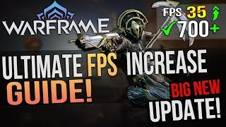 🔧 Warframe: Dramatically increase performance / FPS with any setup! Lag drop fix