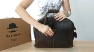Видеообзор мужской кожаной сумки Tiding Bag t1019
