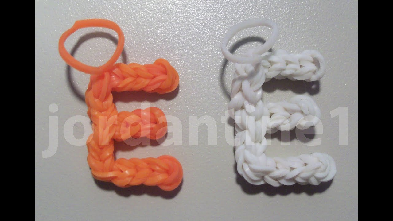 the design and loomless rubber make pin hook bands a how alphabet only uses rainbow to this loom word for using symbol charm ampersand