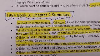 1984  Book 3 summary Ch 1-3 by Mrs. G