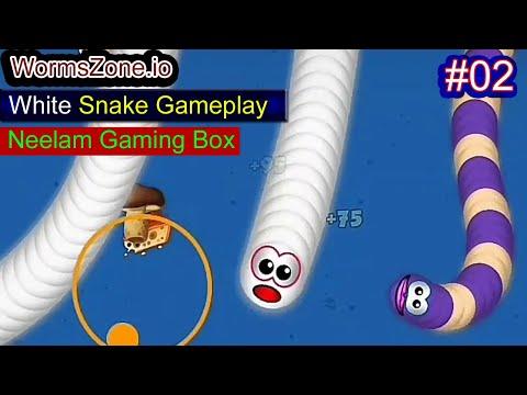 Worm Zone Episode 02 White Snake GamePlay | #WormZone Snake Game | #NeelamGamingBox #NGB